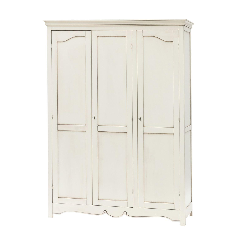 Armadio Laccato Bianco : Armadio a porte shabby chic laccato bianco anticato