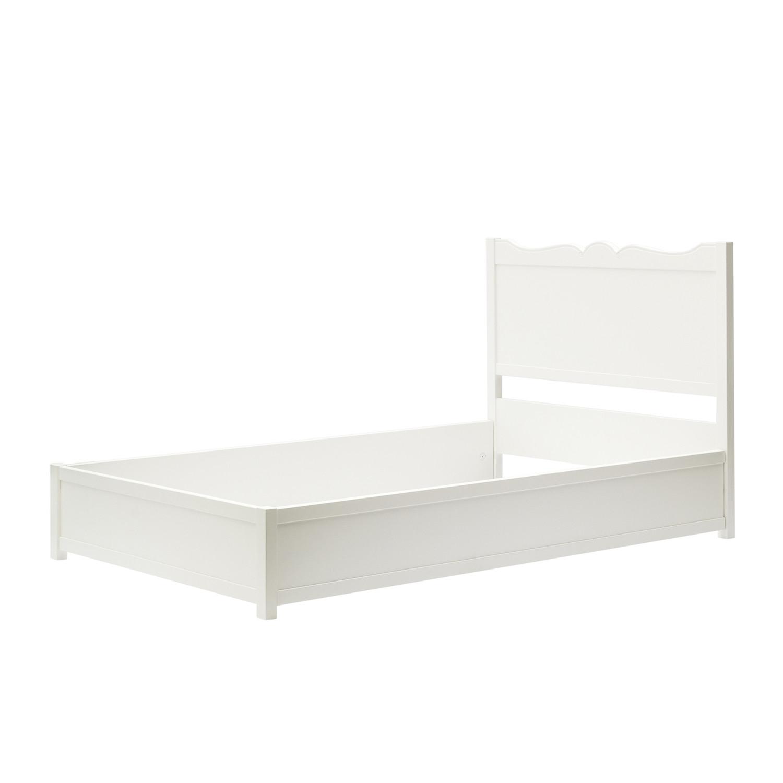 Letto 1 piazza e mezzo shabby chic laccato bianco for Divano letto 1 piazza e mezzo
