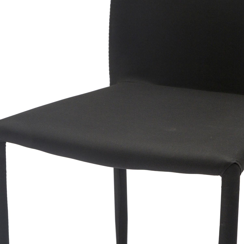 Sedia Moderna Rivestita In Tessuto Nero