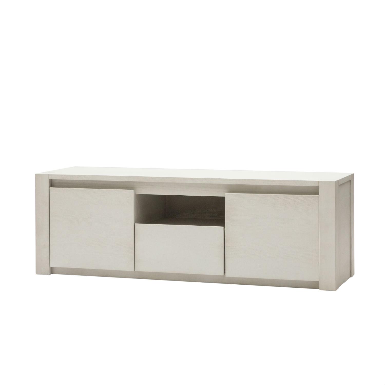 Mobile porta tv in legno bianco a due ante e 1 cassetto - Porta tv in legno ...