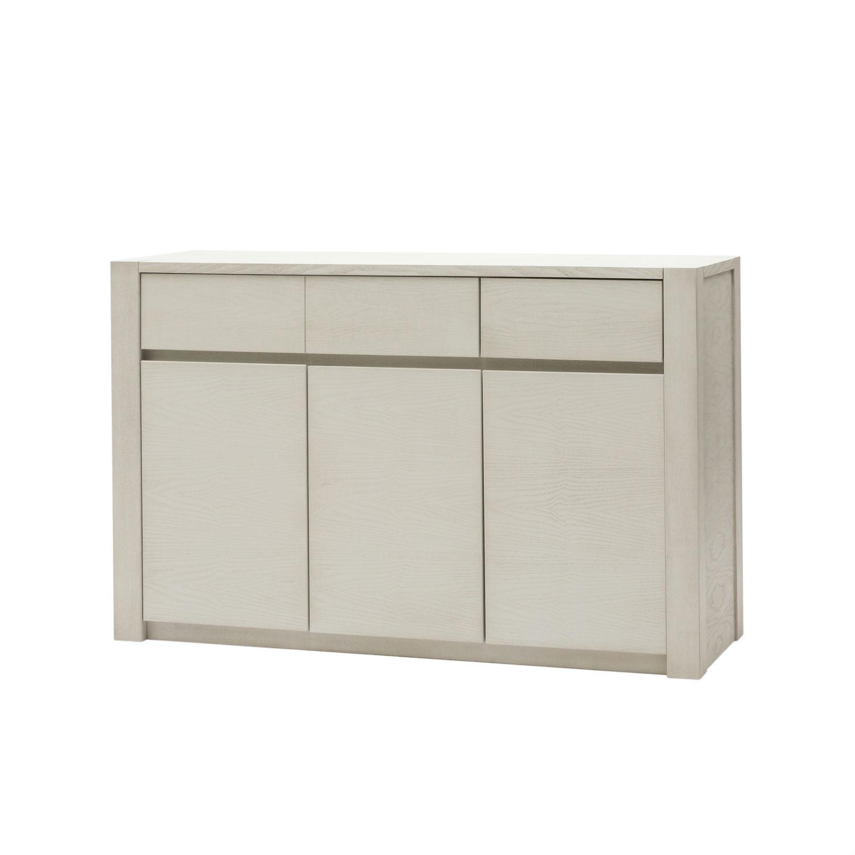 Credenza Moderna Design Maggie : Credenza moderna in legno bianco a tre ante e due cassetti