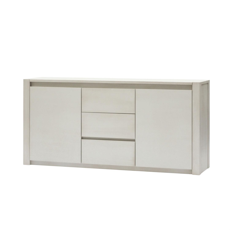 Credenza Moderna Design Maggie : Credenza moderna in legno bianco a due ante e tre cassetti