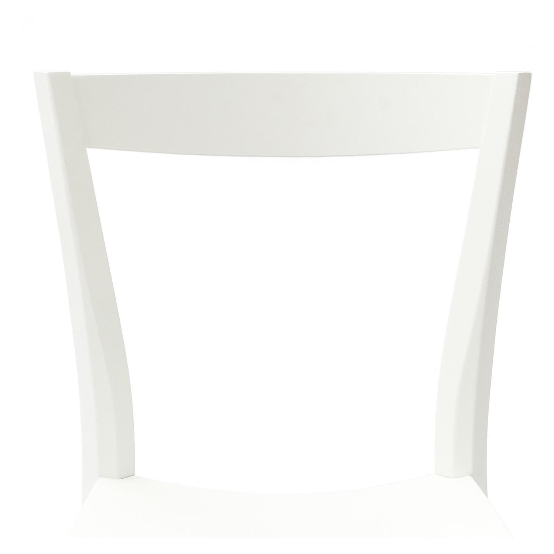 sedia venezia shabby chic fondino legno laccato bianco 2 pezzi