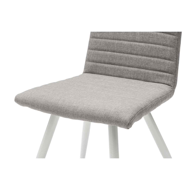 Sedia moderna in tessuto color grigio 4 pezzi for Sedia moderna design