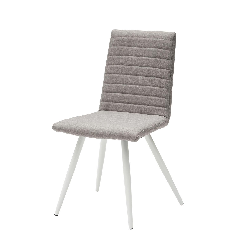 Sedia moderna in tessuto color grigio 4 pezzi for Sedie moderne grigie