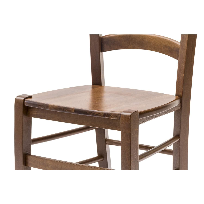 Sedia paesana con fondino legno massello color noce 2 for Cassapanche economiche