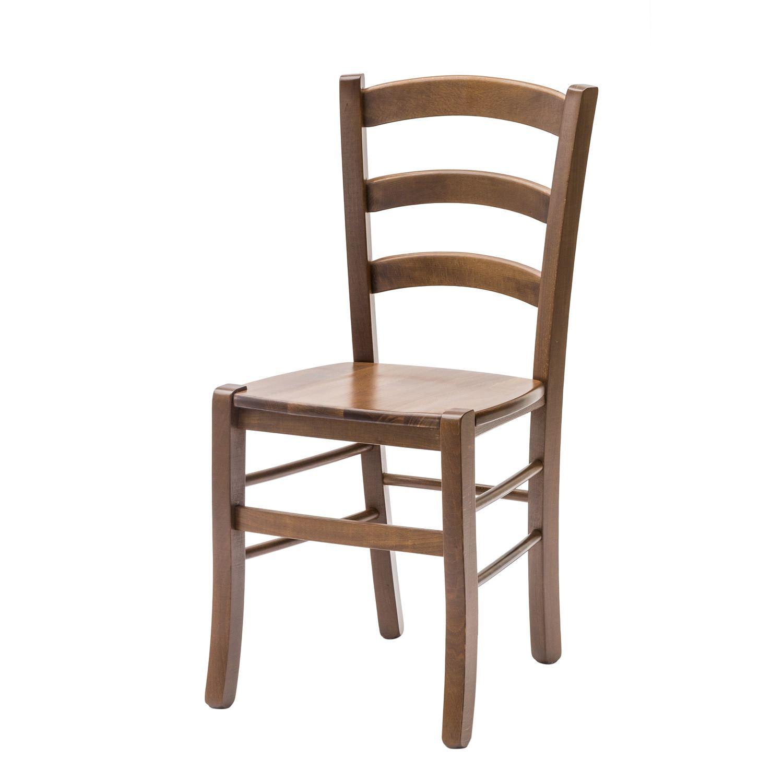 sedia paesana con fondino legno massello color noce 2 pezzi ... - Soggiorno Noce Massello 2