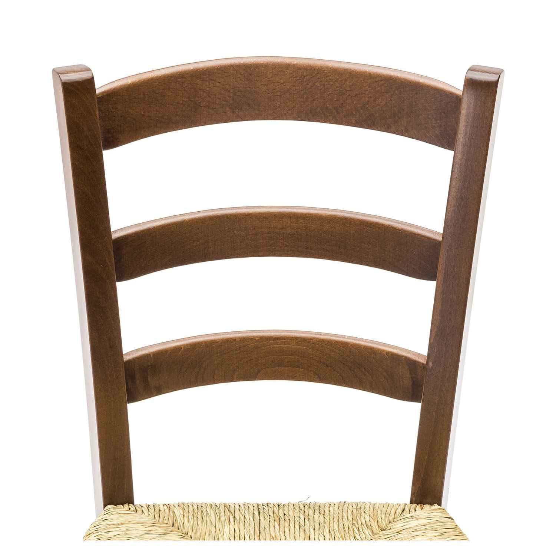 Sedia Paesana con Fondino Paglia Color Noce 2 pezzi disponibile anche seduta in legno