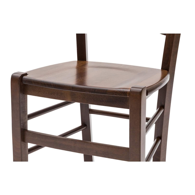 Sedute In Legno Per Sedie.Sedia Paesana Savoy Fondo Legno Color Noce 2 Pezzi Disponibile