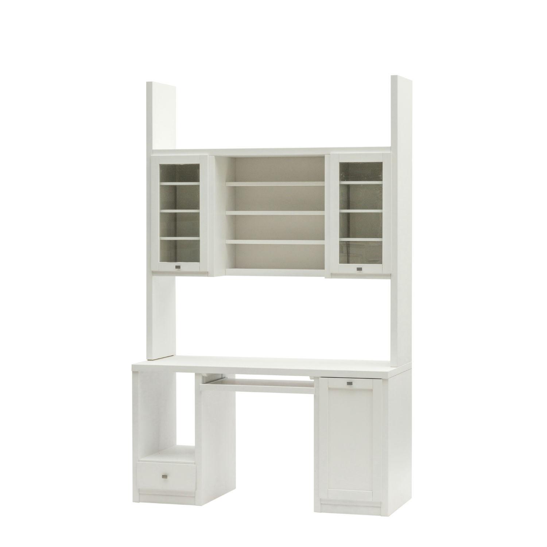 Alzata scrivania moderna in legno laccato bianco qualit for Consolle scrivania moderna