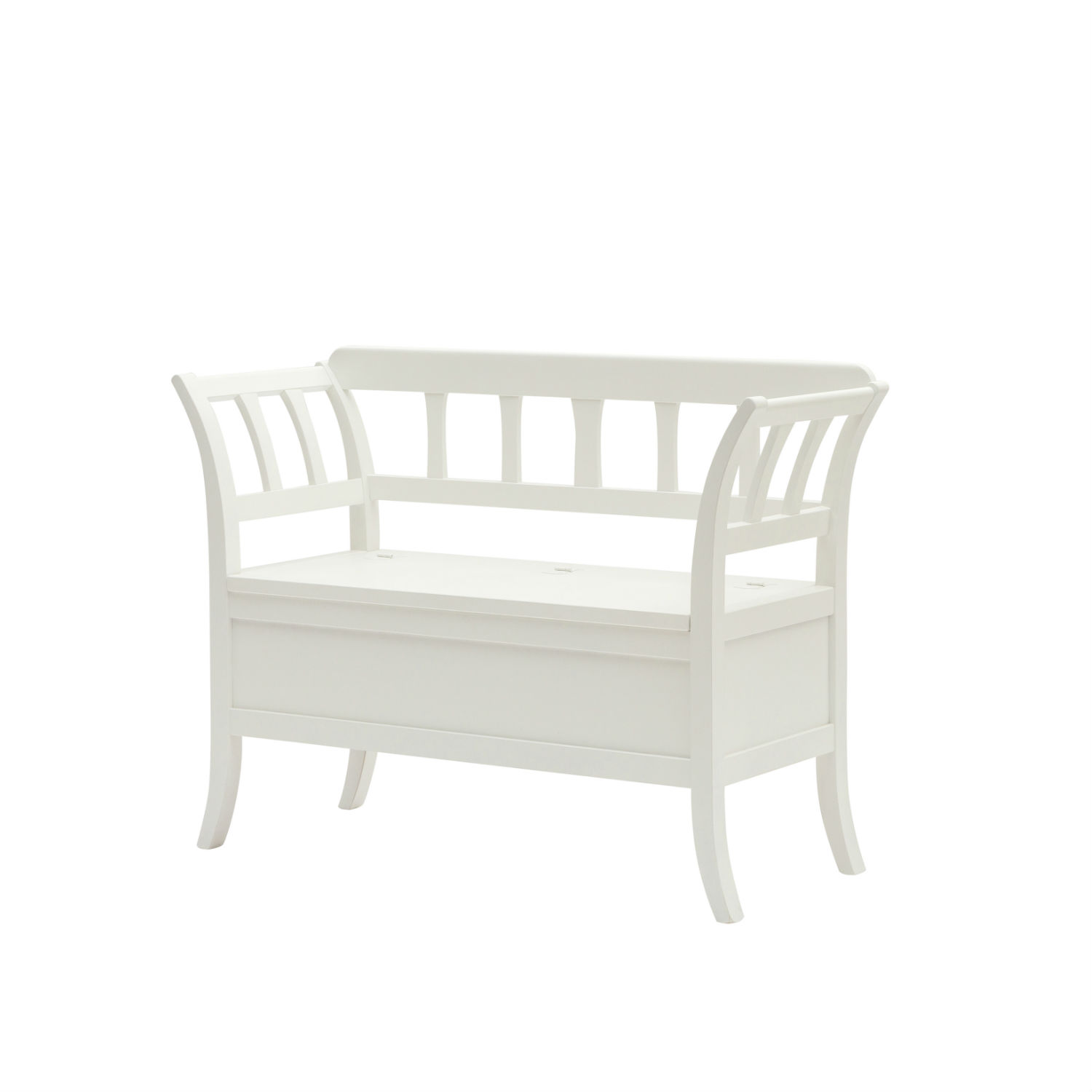 Cassapanca country shabby chic in legno con contenitore for Cassapanca shabby chic