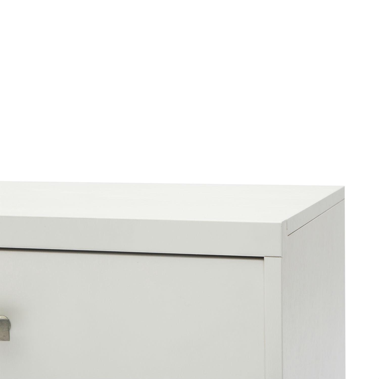 Cassettiera Moderna In Legno Laccato Bianco A 3 Cassetti