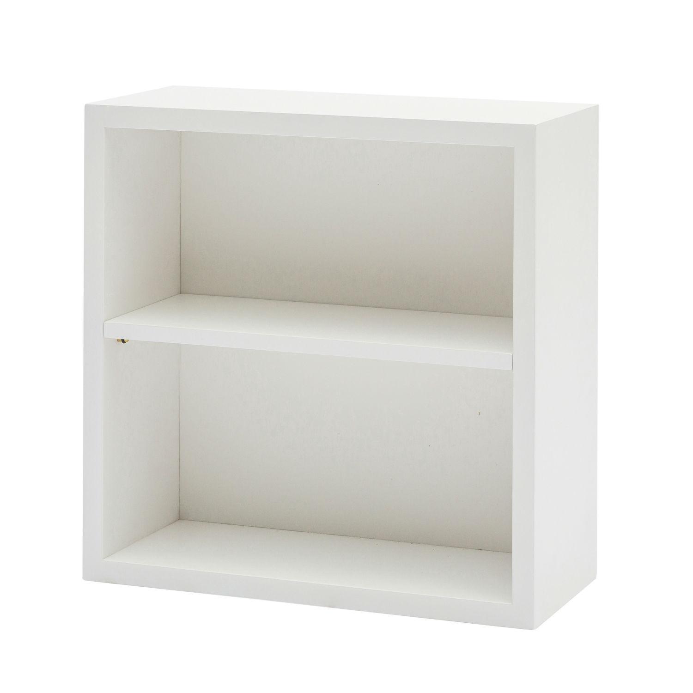 Mobile Box Quadrato In Legno Colore Bianco Laccato Cm. 40x40 Con 2 Vani  (disponibile anche in altri colori)