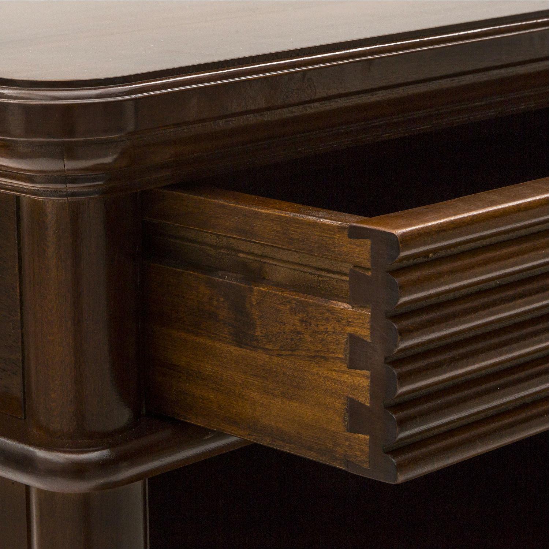 Mobile classico porta tv in legno color noce con 2 - Mobile porta tv classico legno ...