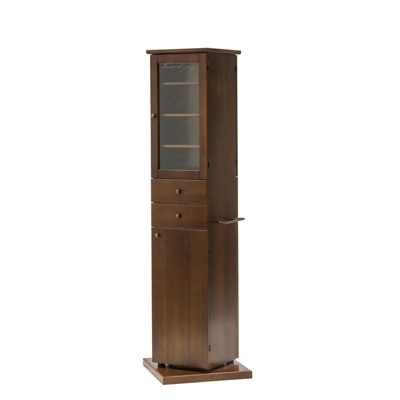 Mobile moderno a colonna girevole in legno colore noce con 2 ante ...