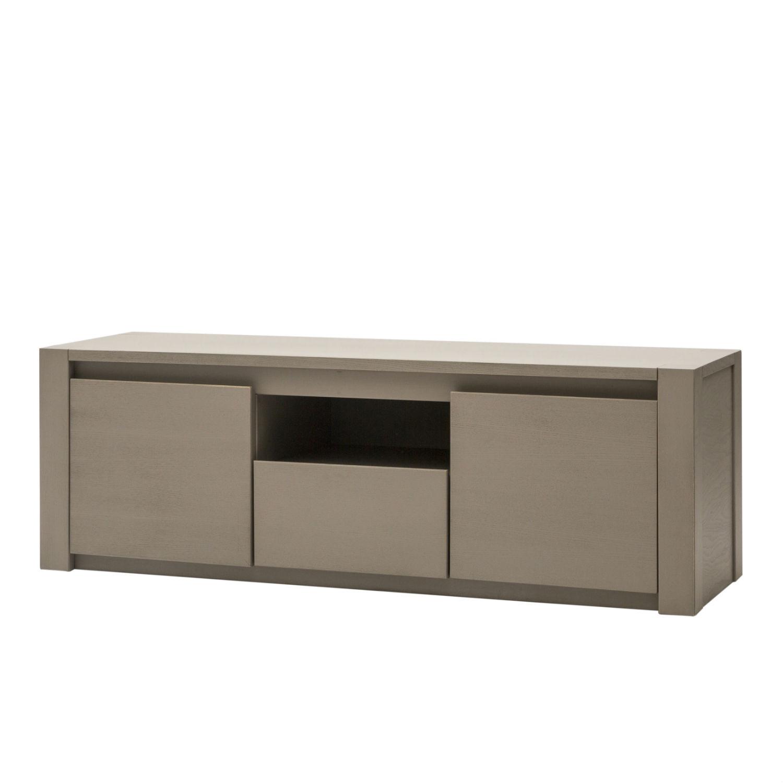 Mobile porta tv in legno grigio a due ante e 1 cassetto - Mobile porta tv in legno ...