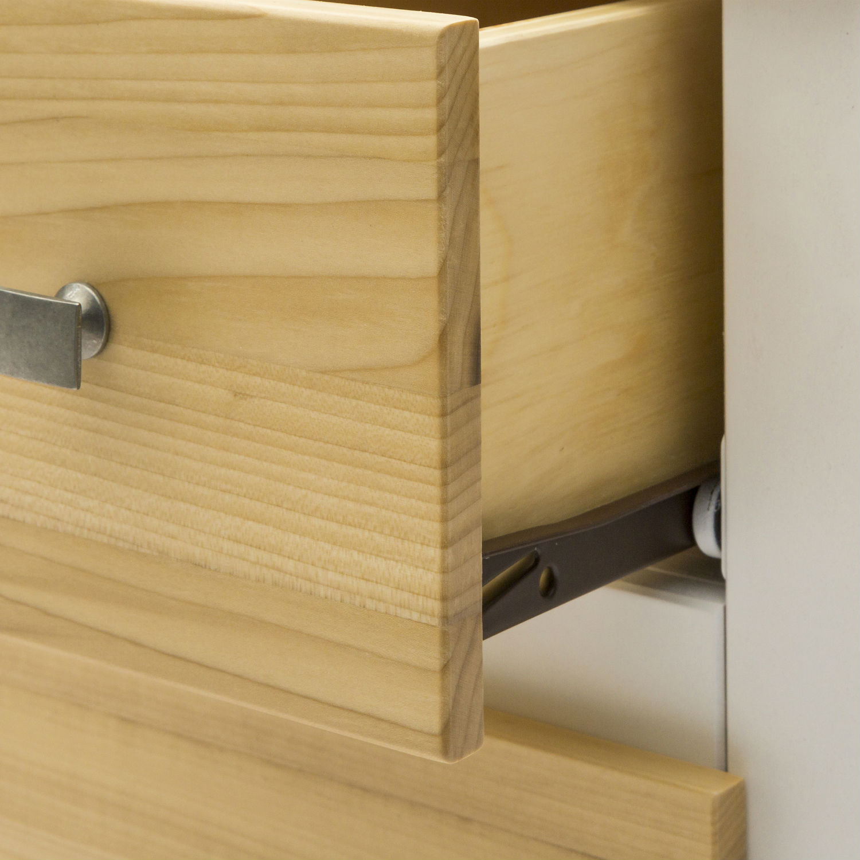 Mobile moderno porta tv in legno laccato bianco e naturale con 3 cassetti e vano a giorno - Mobile porta tv legno ...