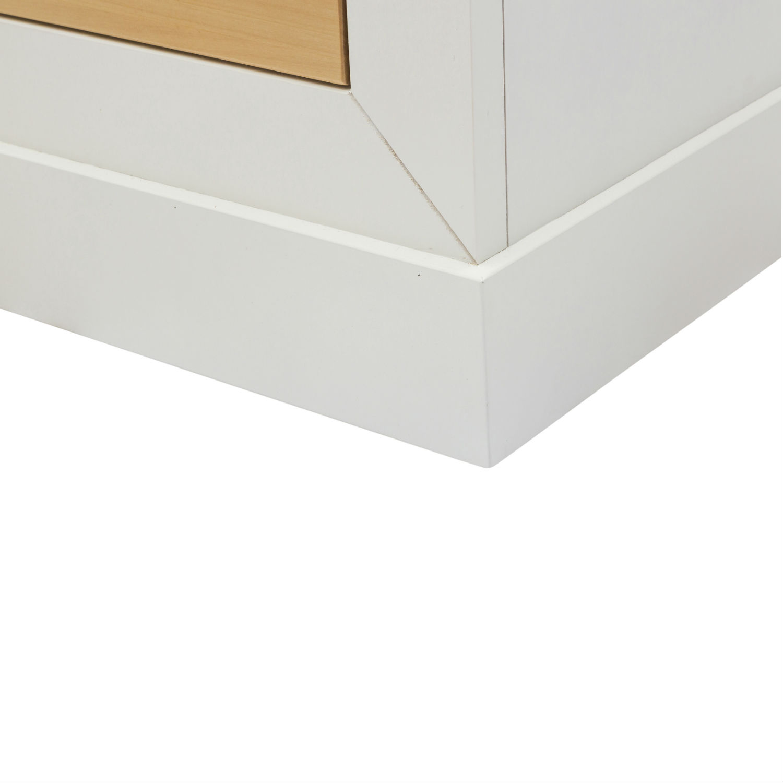 Mobile moderno porta tv in legno laccato bianco e naturale con 4 cassetti disponibile anche in - Mobile porta tv legno ...