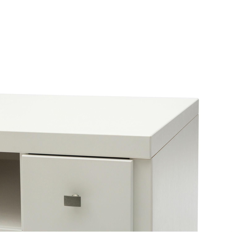 Mobile moderno porta tv in legno laccato bianco con 3 cassetti e vano a giorno disponibile - Mobile laccato bianco ...