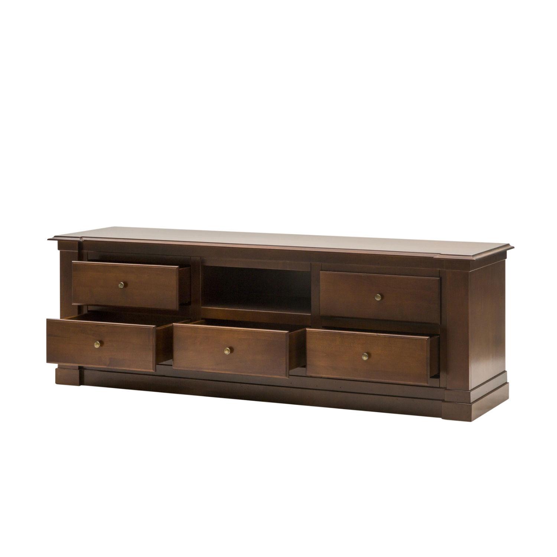 Mobile moderno porta tv in legno color noce a 5 cassetti disponibile anche in altri colori - Mobile porta tv legno ...