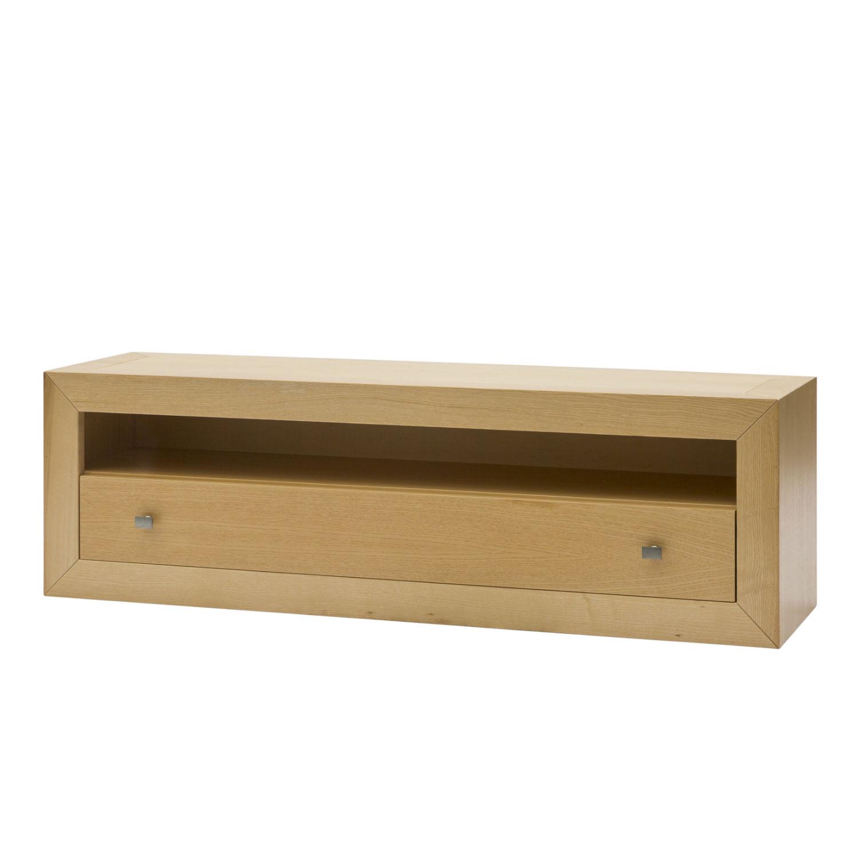 Pensile moderno porta tv in legno color naturale con - Porta tv in legno ...