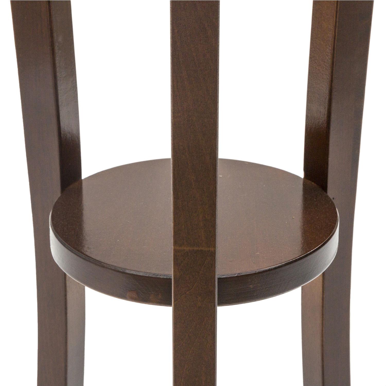 Porta vasi rotondo a colonna in legno colore noce cm 100 for Porta 240 cm