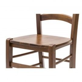 Sedia paesana con fondino legno massello color noce 1 for Cassapanche economiche
