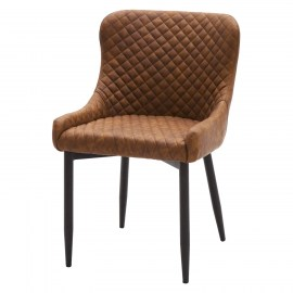 poltroncina-in-ecopelle-marrone-a-rombi5