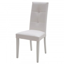 Sedia moderna in ecopelle bianca con fusto bianco con for Sedia bianca moderna