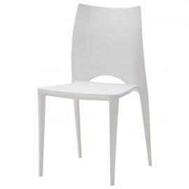 Tavolo moderno rettangolare bianco con gambe in ferro for Sedia moderna bianca