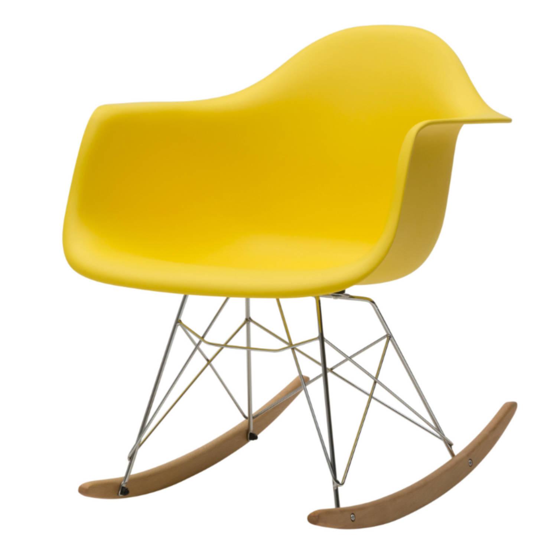 Sedia a Dondolo Moderna Gialla (disponibile anche in altri colori)