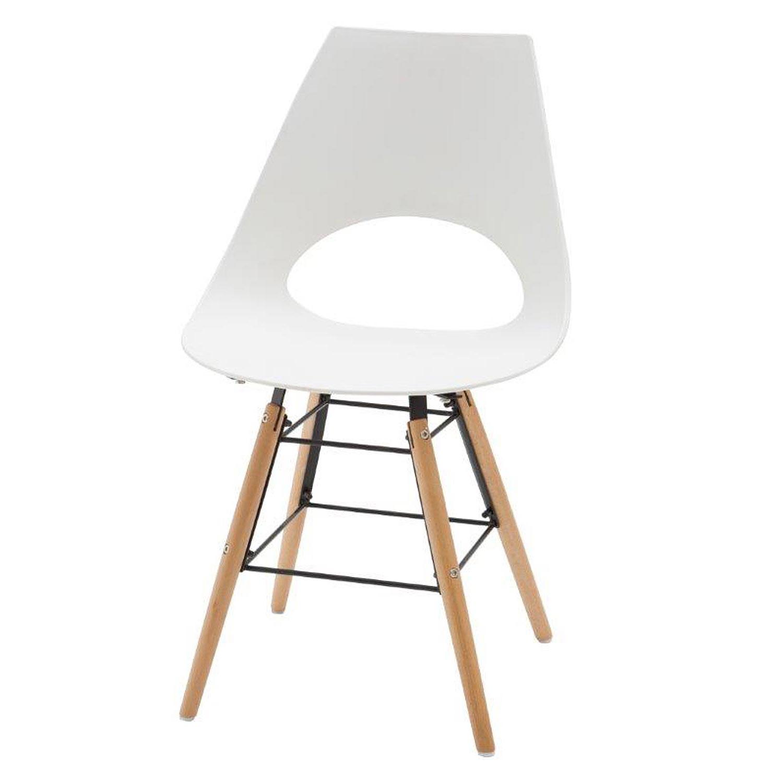 Comoda sedia moderna bianca 2 pezzi for Sedia design comoda