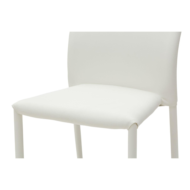 Sedia moderna per soggiorno in ecopelle bianca 4 pezzi for Sedia design ecopelle bianca