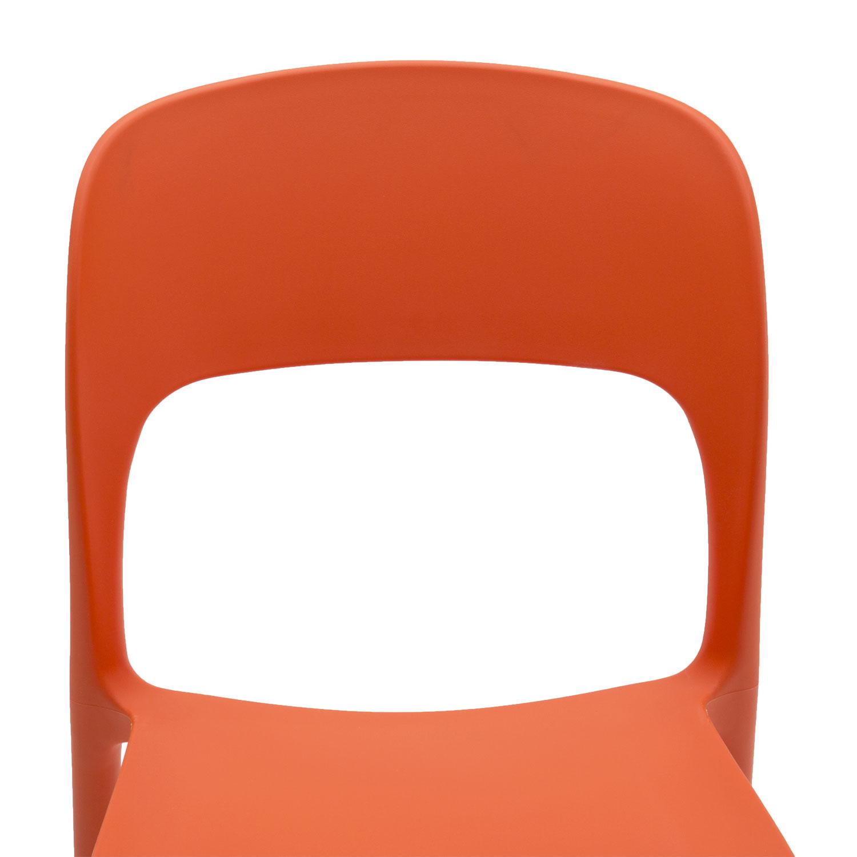 Sedia in Plastica Moderna Arancio Tramonto 2 Pezzi