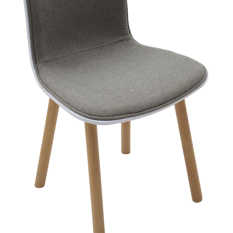 Sedia moderna wooden in plastica bianca con rivestimento for Sedia bianca moderna