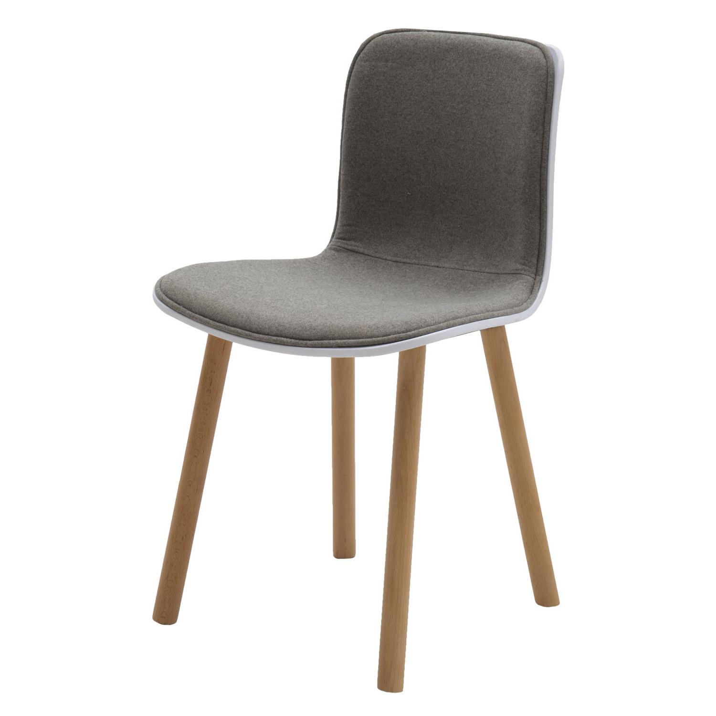 Sedia moderna wooden in plastica bianca con rivestimento for Sedia moderna bianca