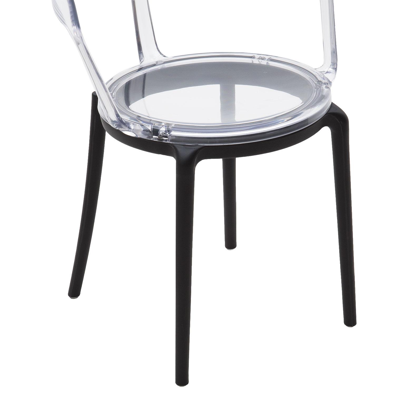 Sedia di Design in Plastica Moderna con Seduta e Schienale ...