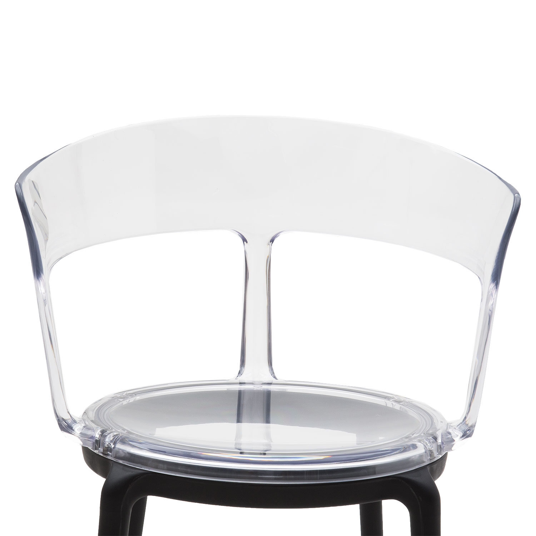 Plastica Moderna Pezzi Schienale Trasparenti In Di Con Sedia Design ...