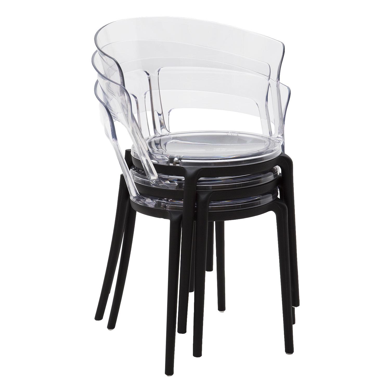 Sedie Trasparenti In Plastica.Sedia Di Design In Plastica Moderna Con Seduta E Schienale