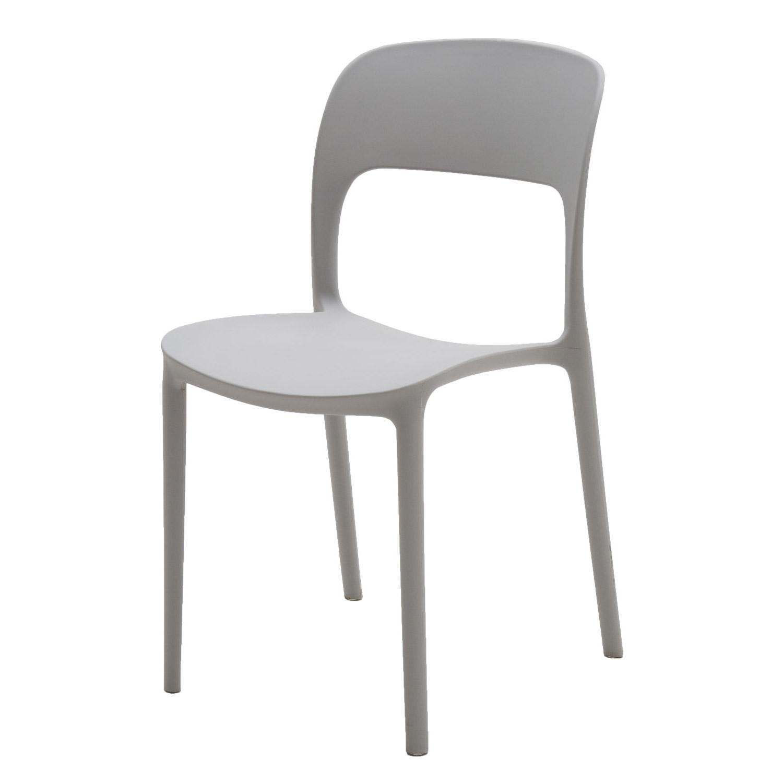 sedia in plastica grigio chiaro