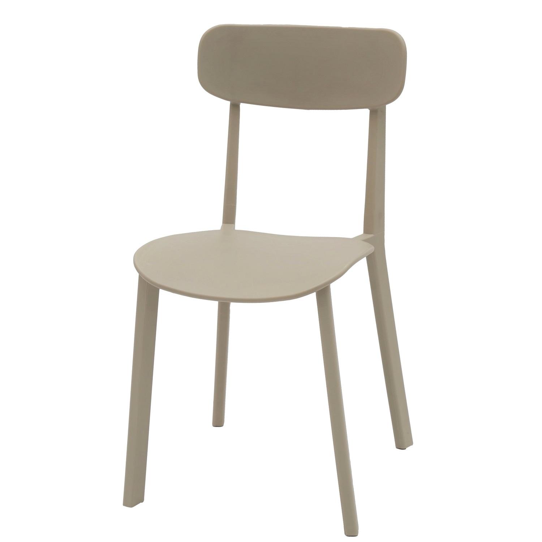 Sedia Moderna in Polipropilene Colore Sabbia 4 Pezzi (disponibile anche in  altri colori)