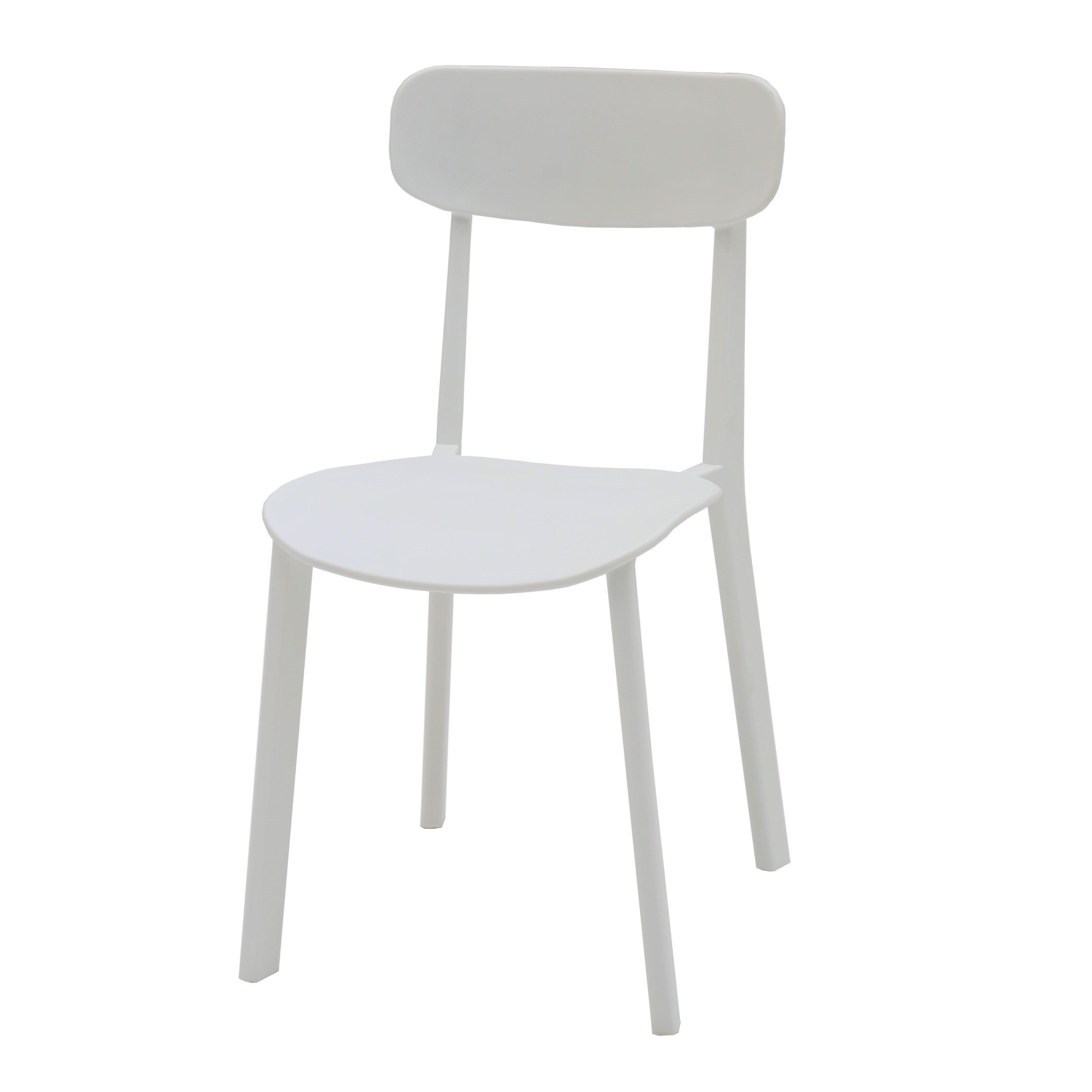 Sedia Moderna in Polipropilene Colore Bianco 4 Pezzi (disponibile ...