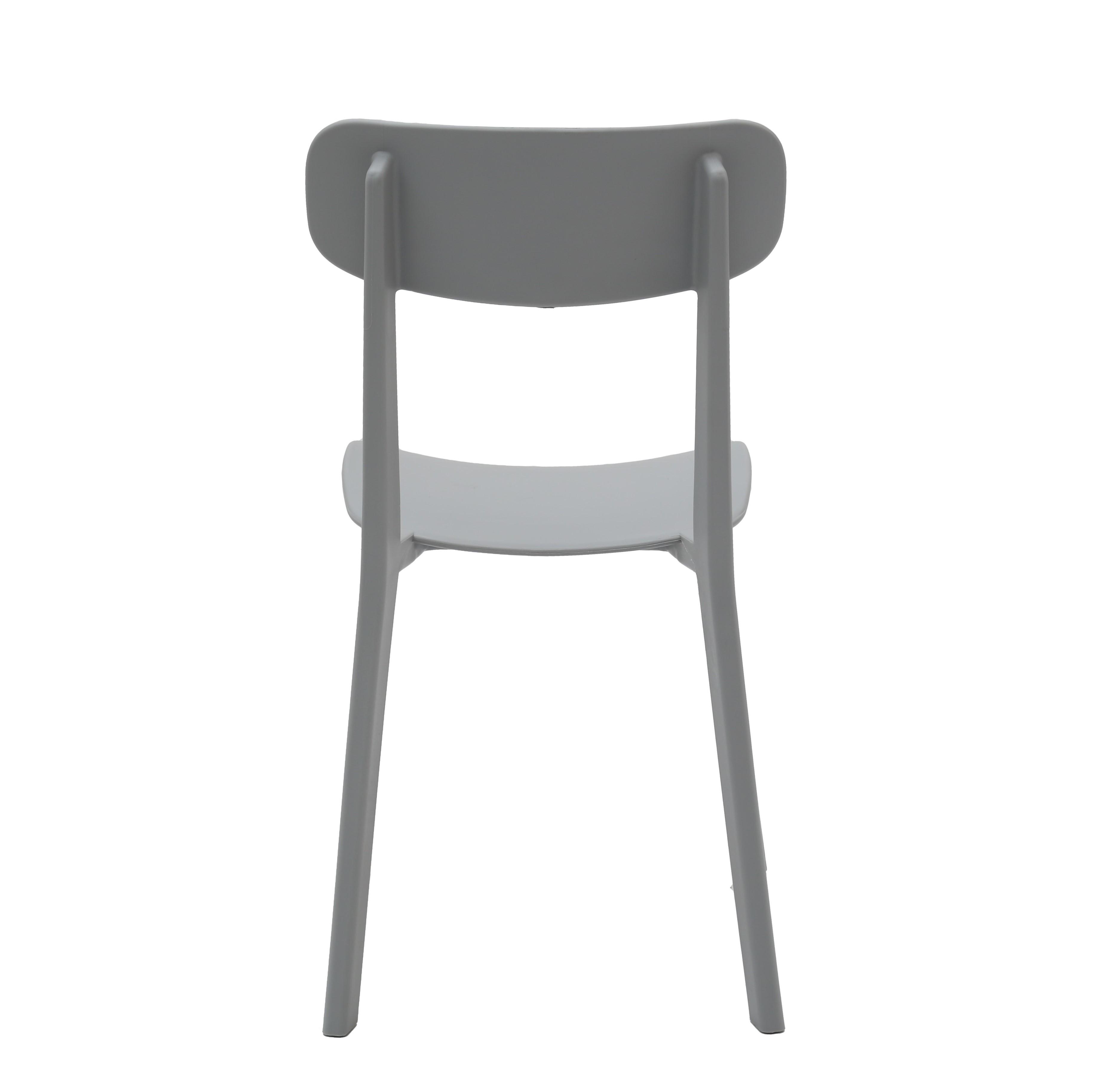 Sedia Moderna in Polipropilene Colore Grigio 4 Pezzi (disponibile ...