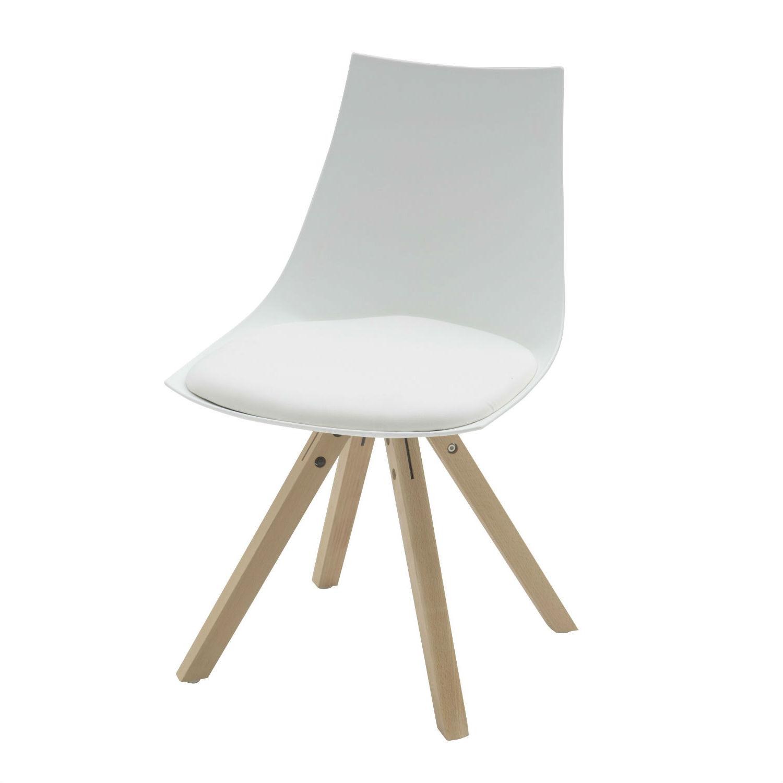 Sedia moderna bianca con cuscino 2 pezzi for Sedia moderna bianca