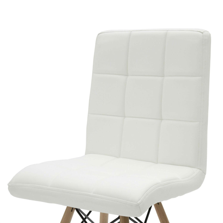 Sedia Moderna da Ufficio in Ecopelle Bianca 2 Pezzi (disponibile anche in  altri colori)