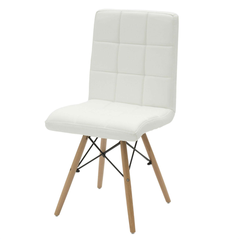 Sedia Moderna da Ufficio in Ecopelle Bianca 2 Pezzi (disponibile ...