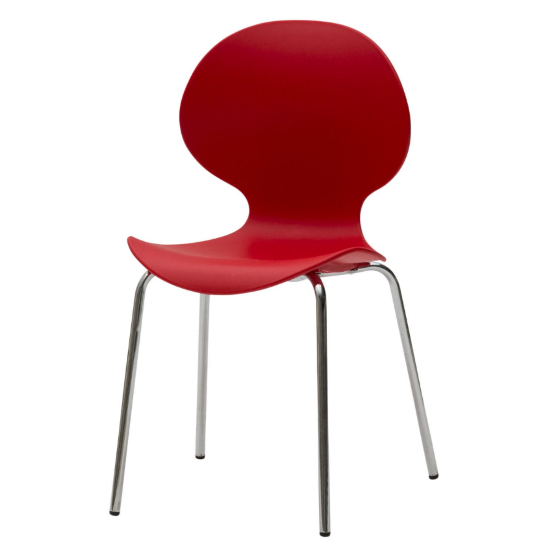 Sedia moderna da ufficio rossa 4 pezzi disponibile anche for Sedia ufficio moderna