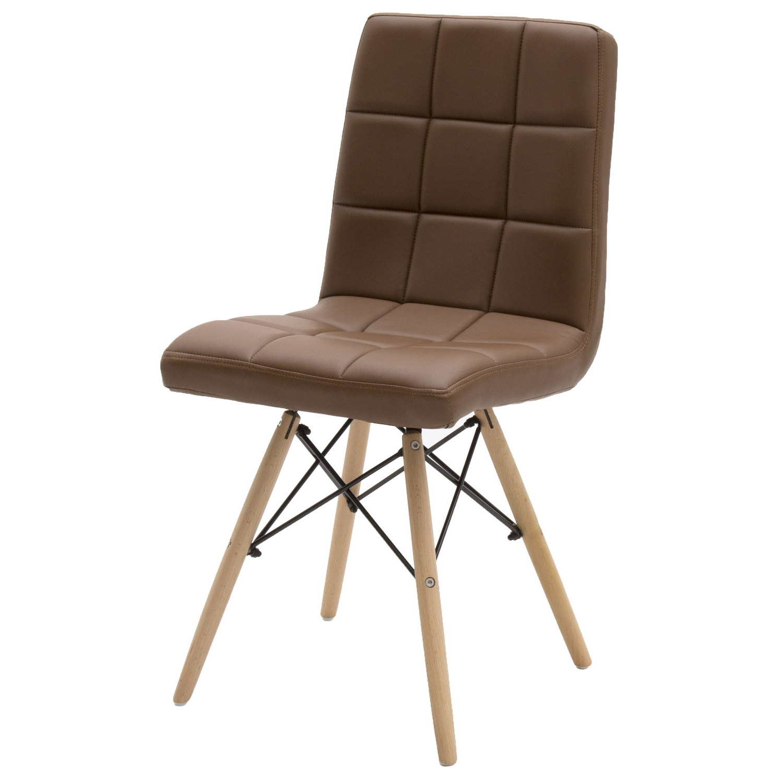 Sedie Da Ufficio Marrone.Sedia Moderna Da Ufficio In Ecopelle Marrone 2 Pezzi Disponibile Anche In Altri Colori