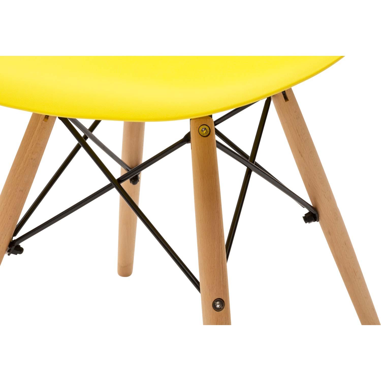 Sedia moderna in plastica gialla 4 pezzi disponibile for Sedia design gialla