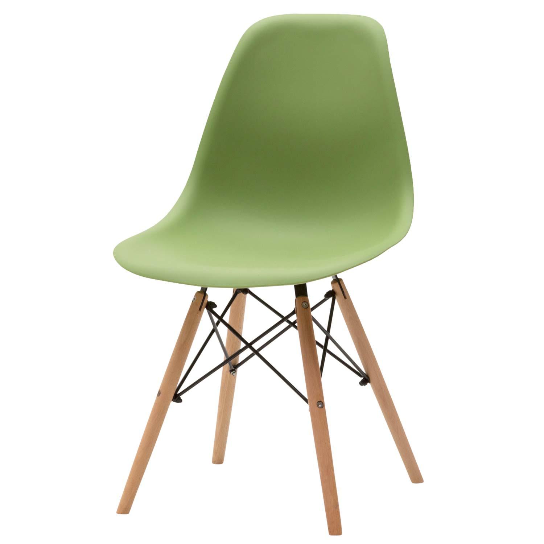 Sedia moderna in plastica verde 4 pezzi disponibile anche for Sedia moderna design